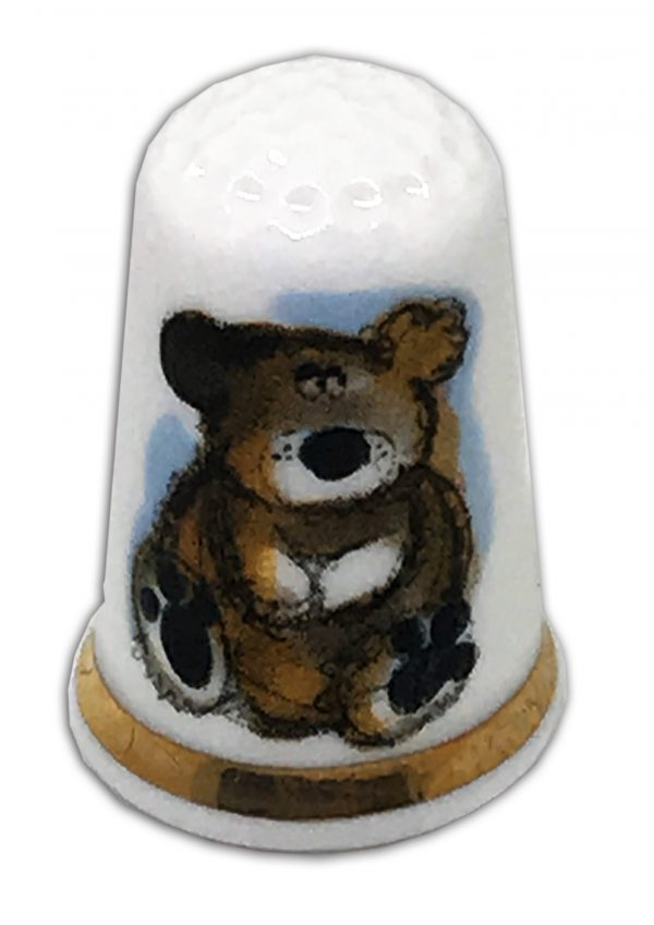 baby bear Christening gift personalised thimble