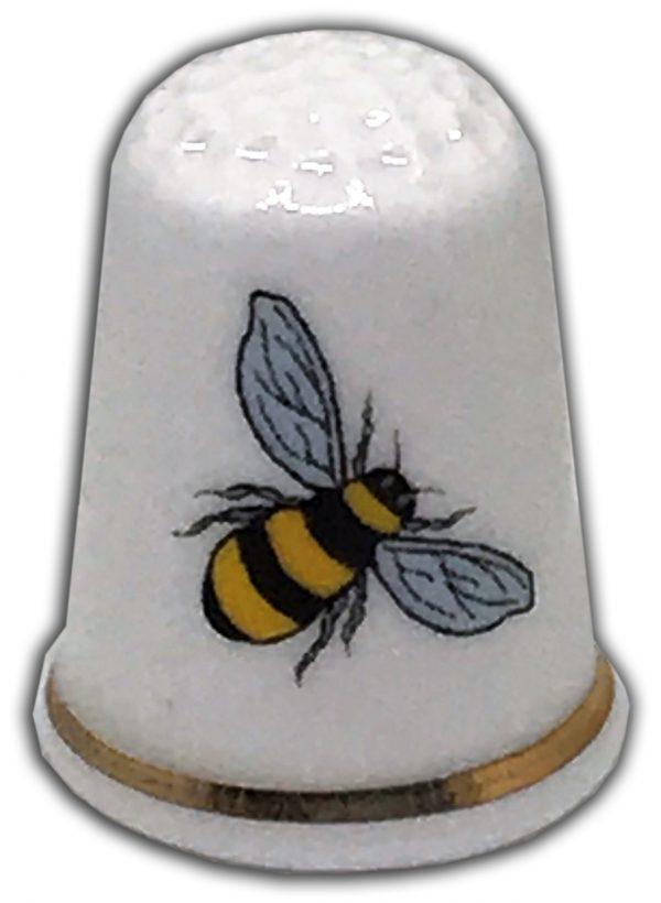 bumble bee personalised china thimble