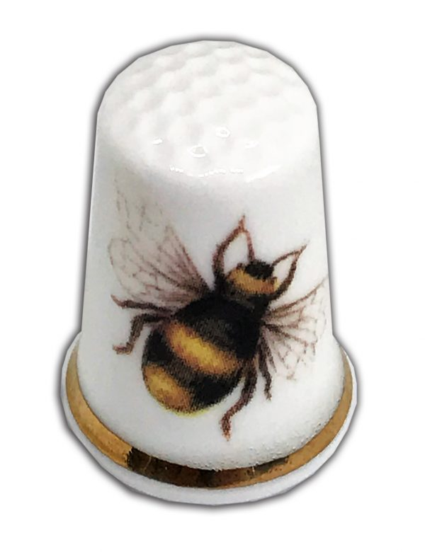 bumble bee china thimble personalised