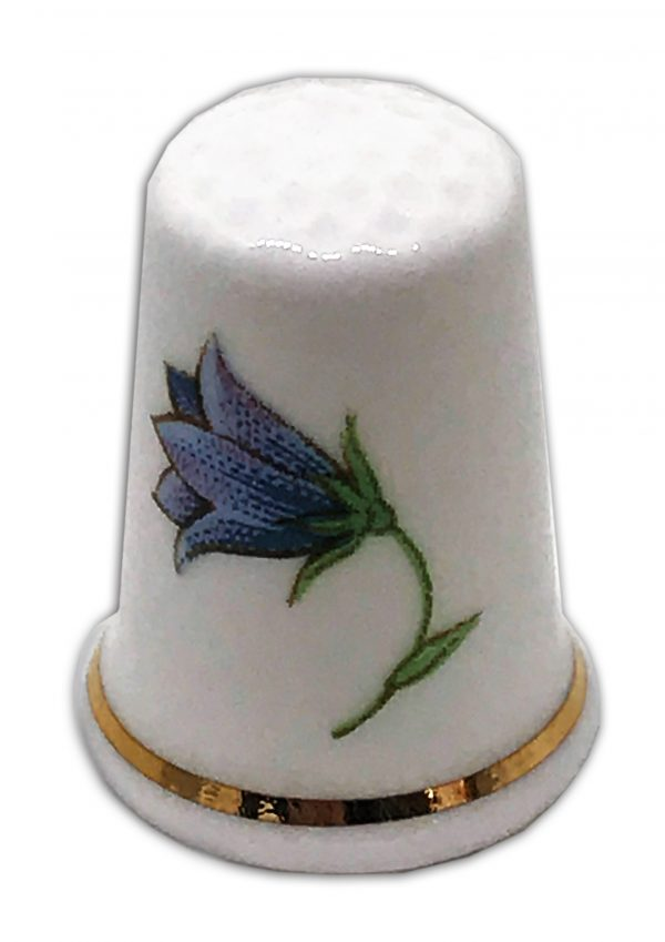 bluebell personalised china gift thimble