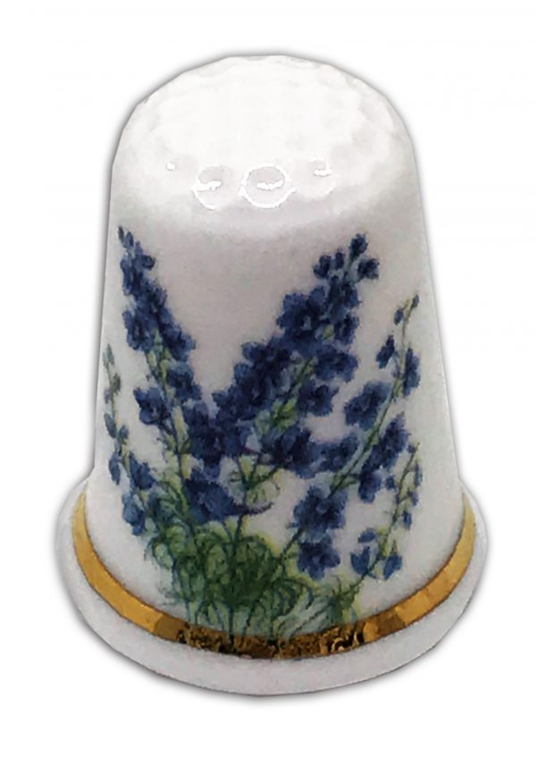 personalised china bluebell gift thimble