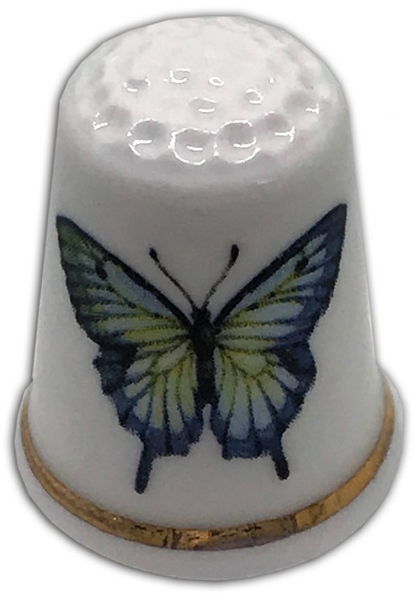 personalised china butterfly thimble