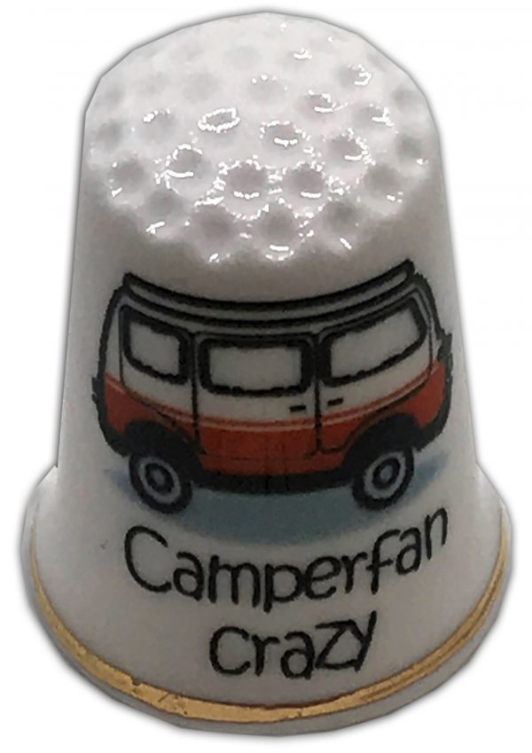 campervan themed china thimble