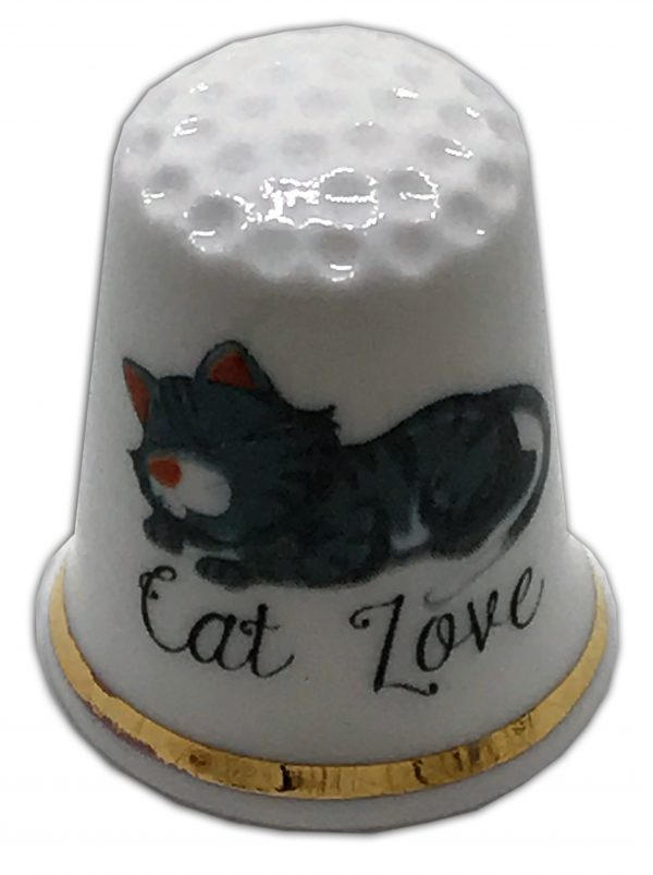 Cat Love China Thimble