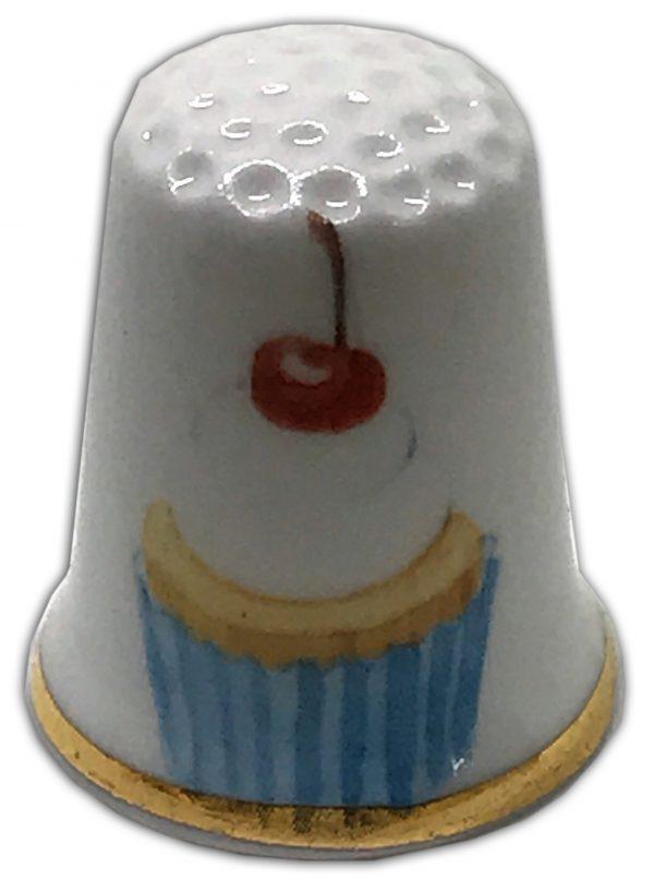 retro cupcake personalised china thimble