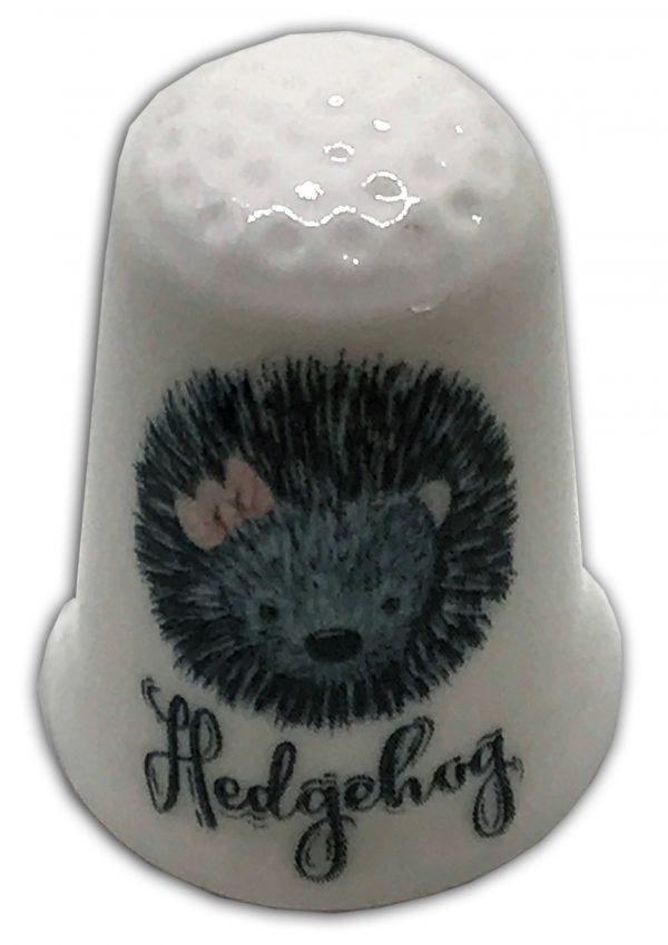 cute hedgehog personalised thimble