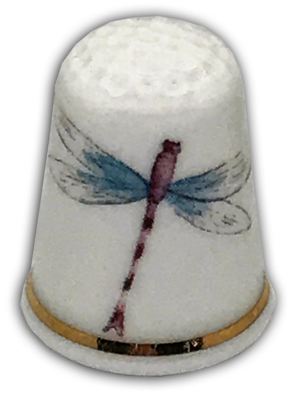 dragonfly personalsied china thimble