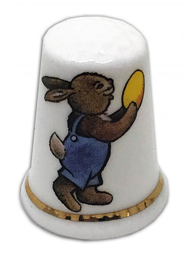 easter bunny personalised china gift thimble