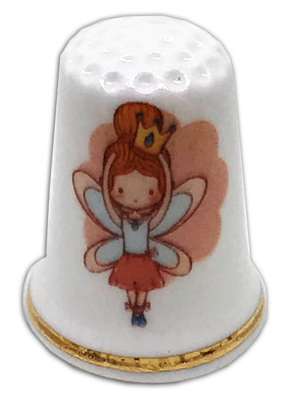 fairy ballet personalised china thimble