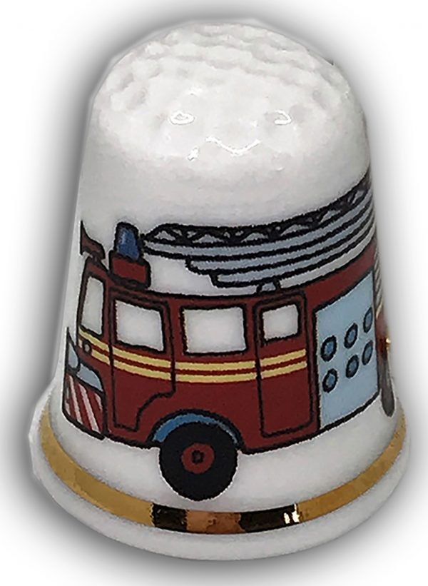 fire engine personalised china thimble