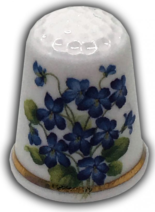 forget-me-nots personalised gift thimble