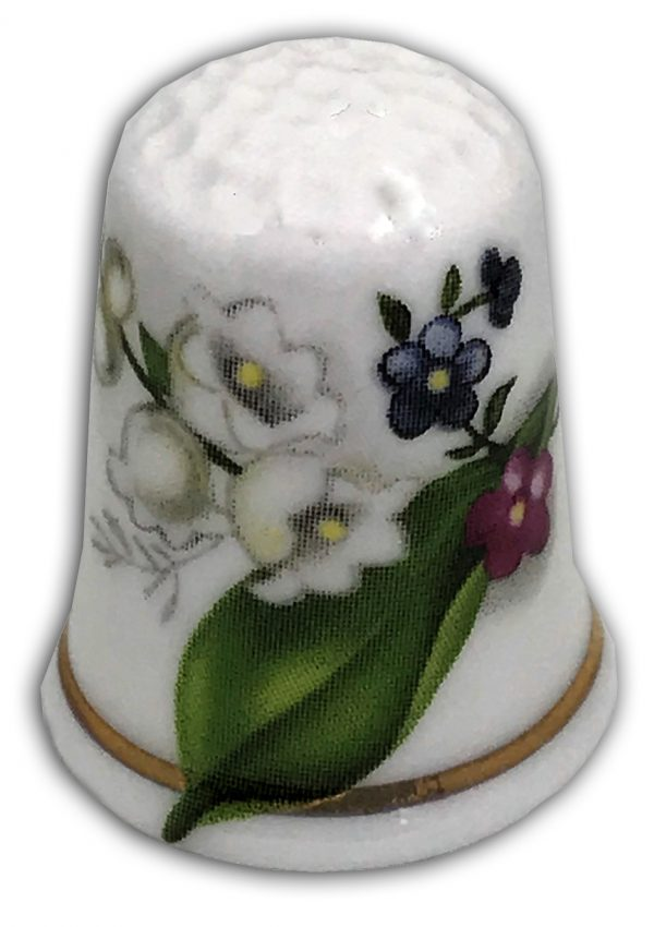 lily of the valley personalised flower thimble