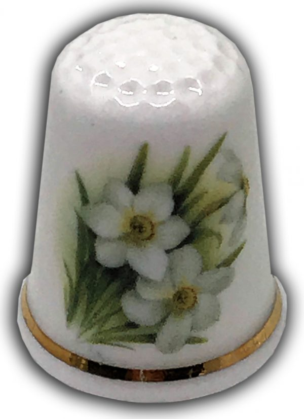 narcissus personalised gift thimble