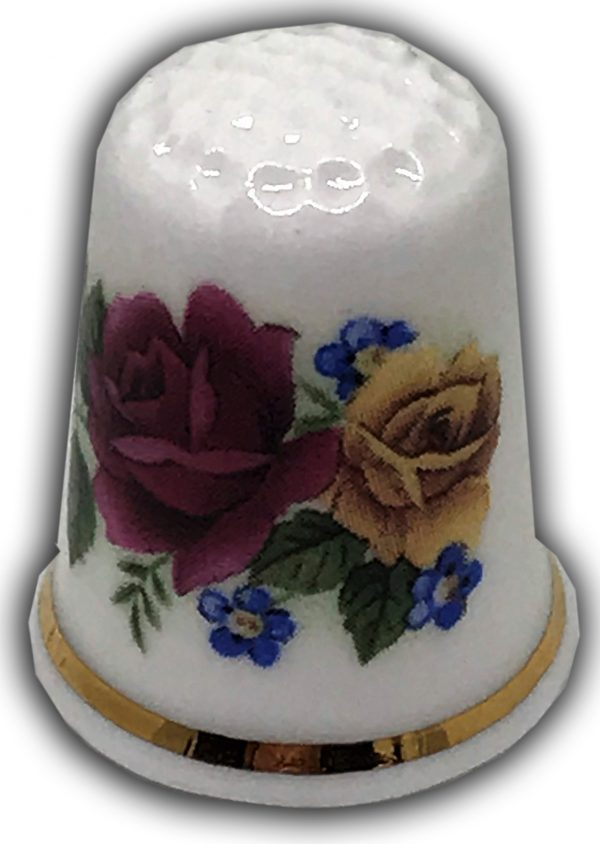 floral spray personalised gift thimble