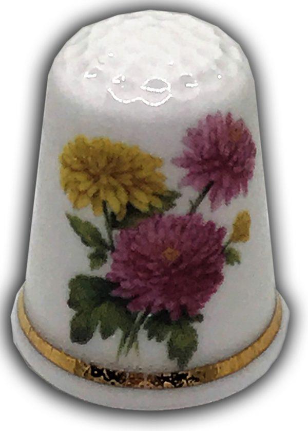 Dahlias personalised gift thimble
