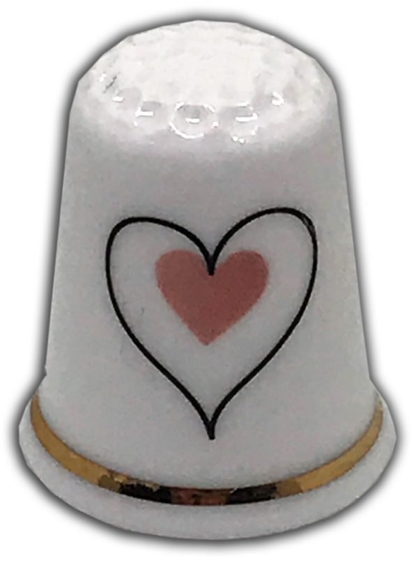 romantic heart wedding engagement china thimble