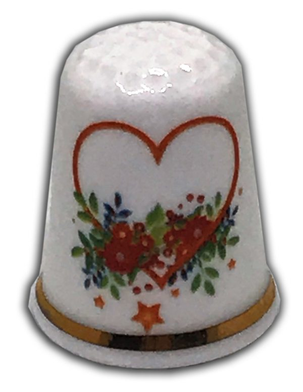 romantic heart wedding engagement china thimble
