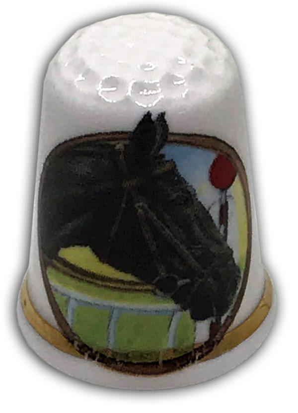 personalised china donkey horse thimble