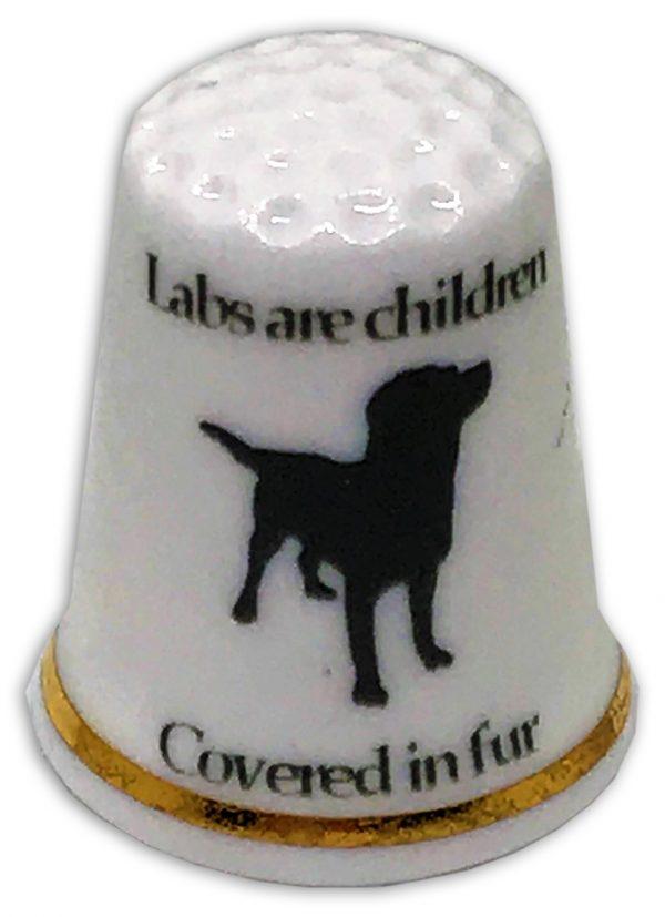 Labrador themed china thimble