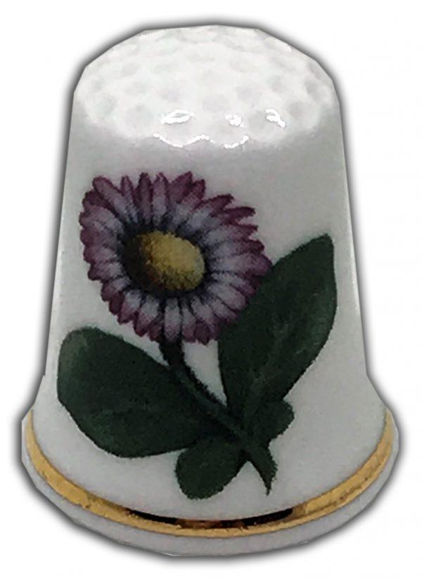 lawn daisy personalised china thimble
