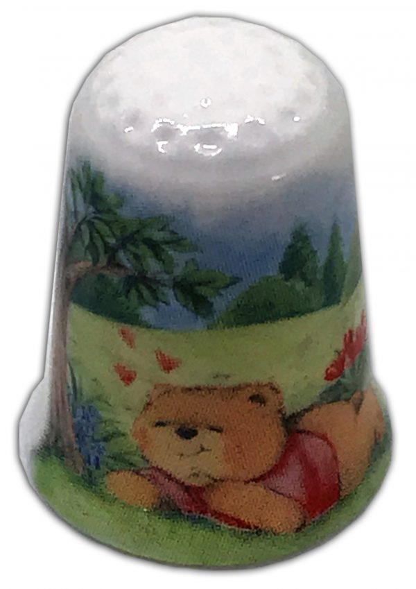 loving bears personalised china thimble