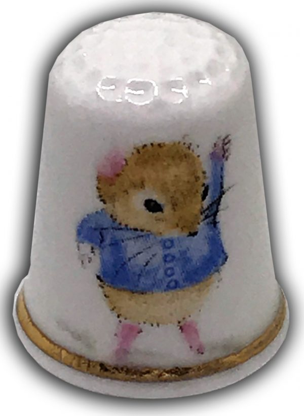 mousykins child themed china thimble