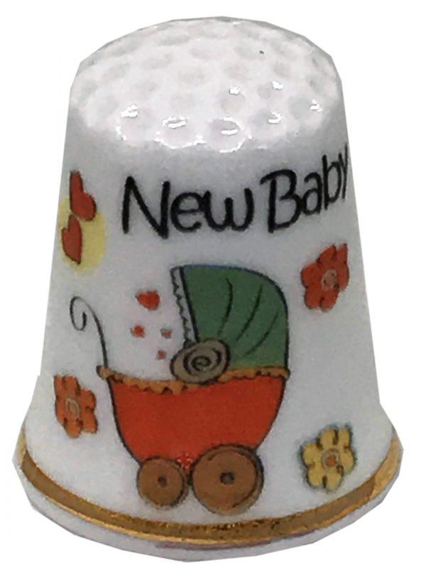 new baby personalised china thimble