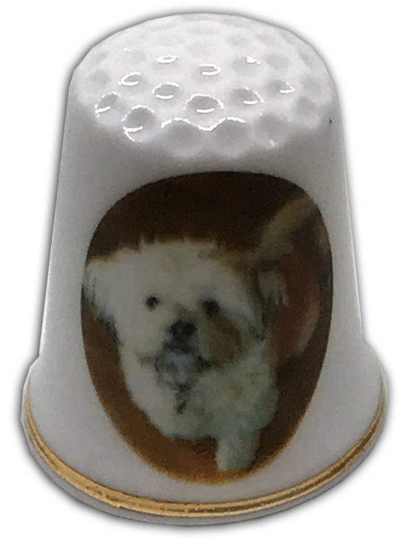 your photo on a china thimble