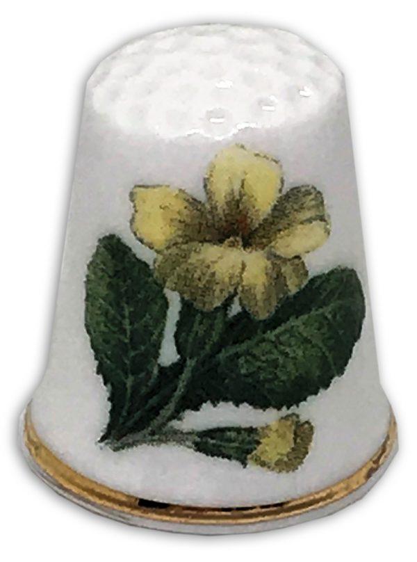 primrose yellow personalised china thimble