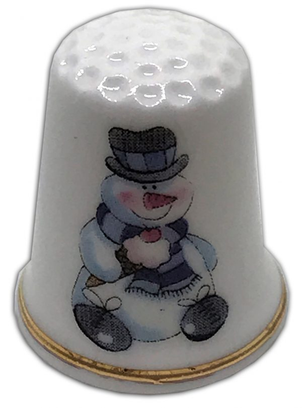 christmas snowmen personalised china thimblechristmas snowmen personalised china thimble