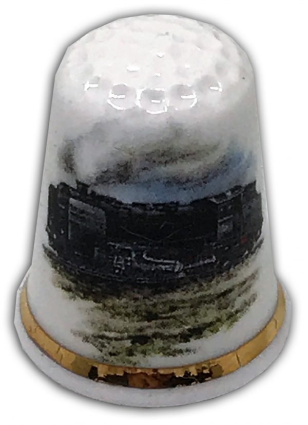 personalised steam train china thimble