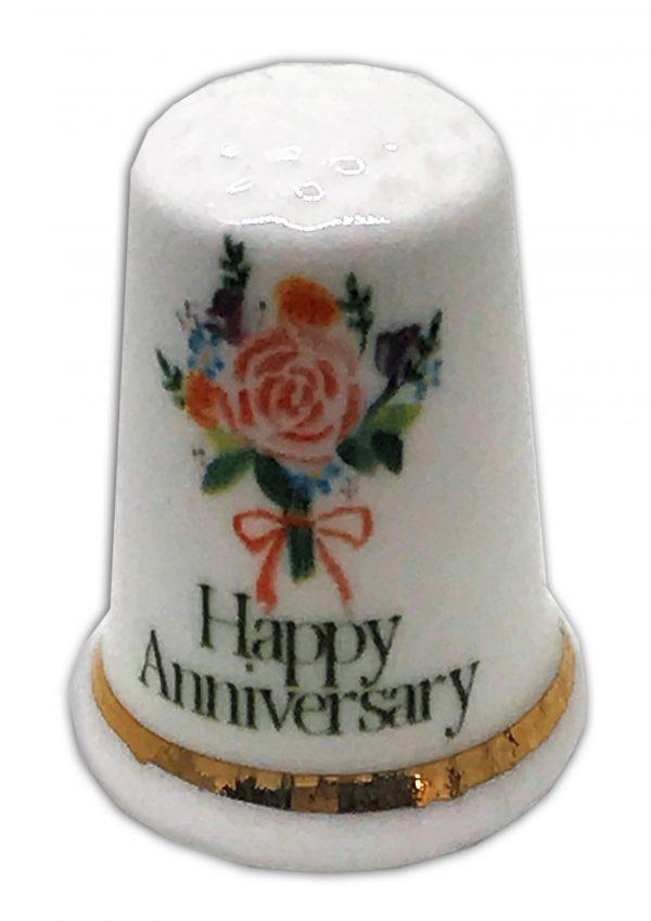 anniversary flowers personalised china gift thimble