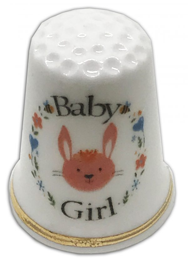 new baby girl christening gift thimble