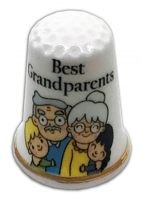 best grandparents personalised china thimble