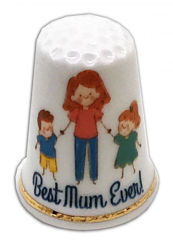 Best Mum ever! mother's day thimble