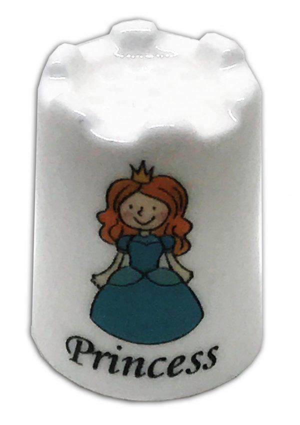 princess themed personalised china thimble