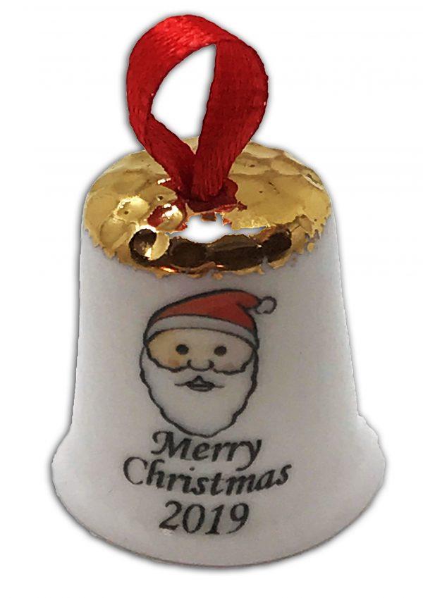 hanging Christmas thimble, personalised Santa thimble