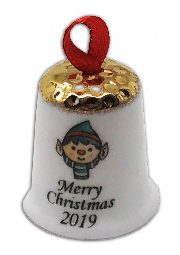 hanging Christmas thimble, personalised Christmas Elf thimble