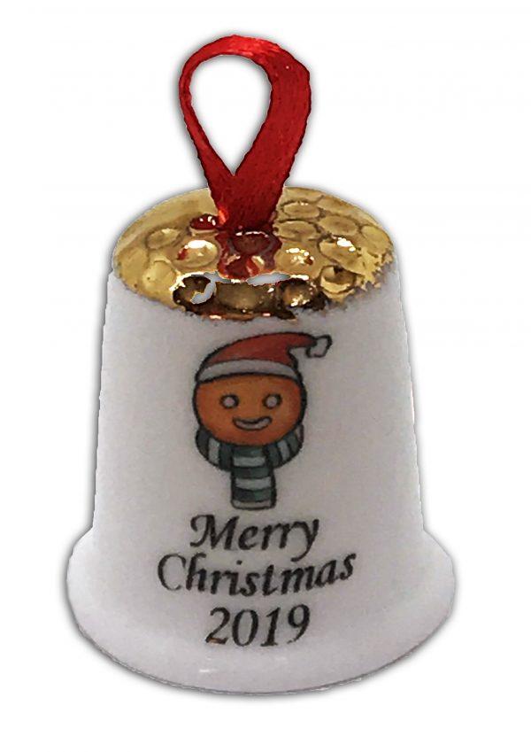 hanging Christmas thimble, personalised gingerbread thimble