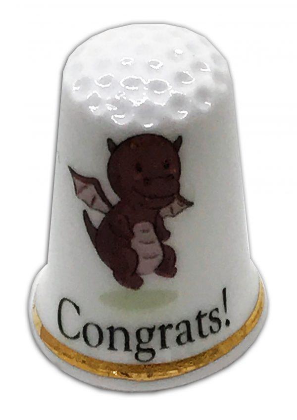 new baby personalised china thimble dragon design