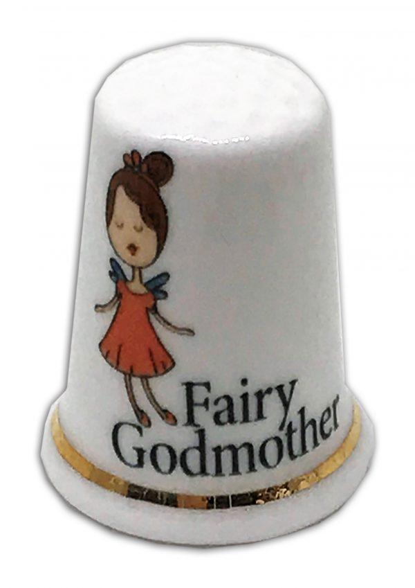 fairy godmother personalised china gift thimble