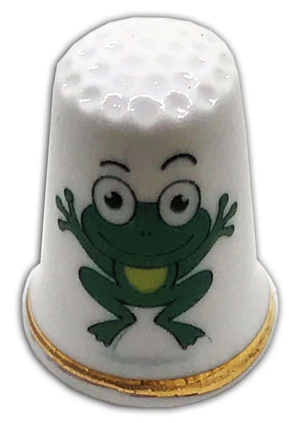 personalised frog thimble