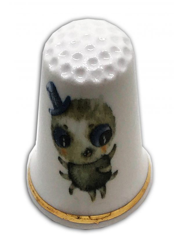 personalised Halloween theme china thimble scary spider