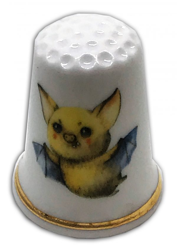 personalised Halloween theme china thimble scary bat