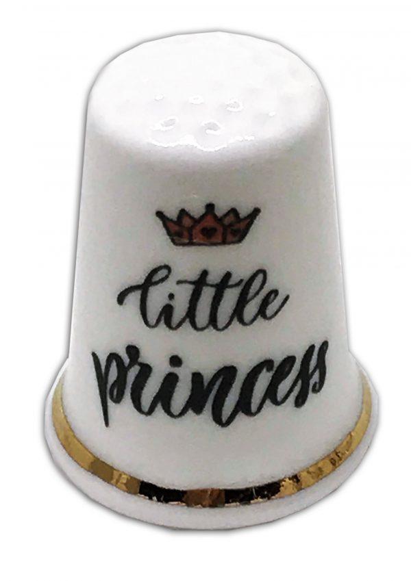 little princess personalised china thimble