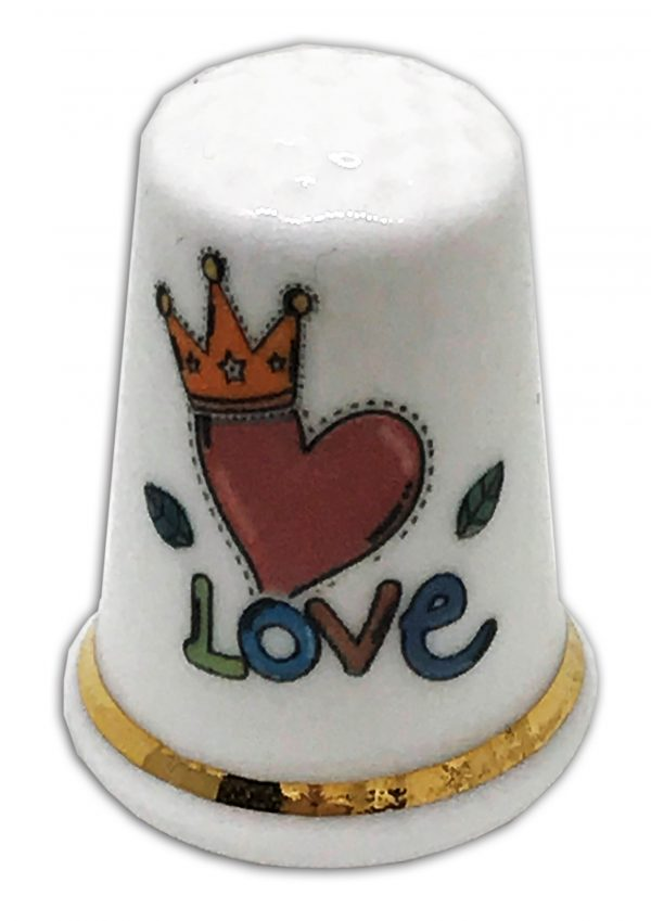 love personalised china thimble