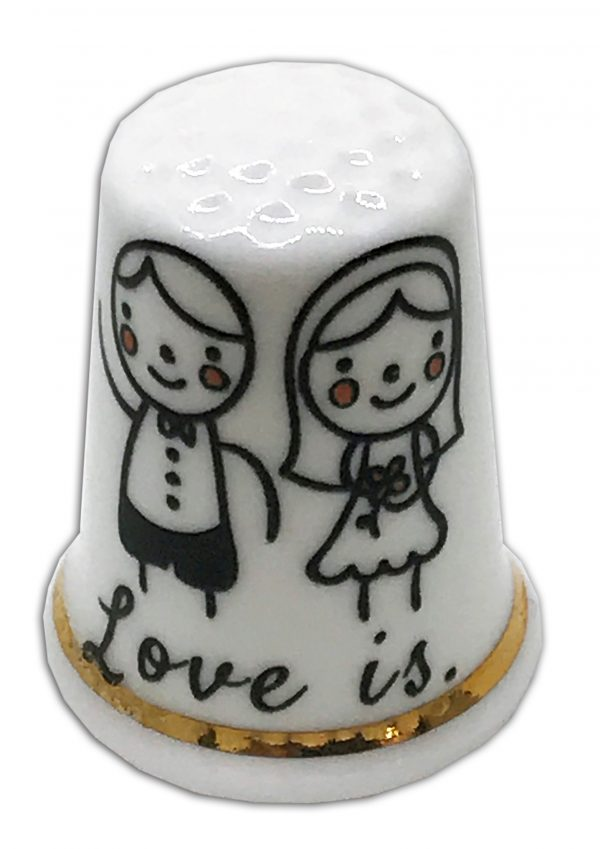 Personalised China Wedding Thimble