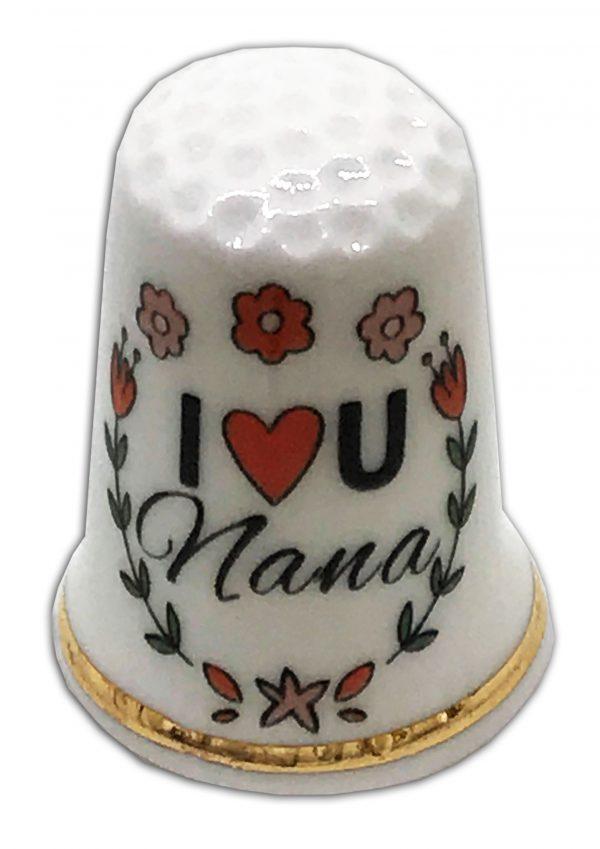 Love My Nana Mother's Day China Thimble