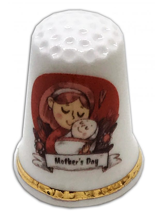 personalised china mother's day thimble