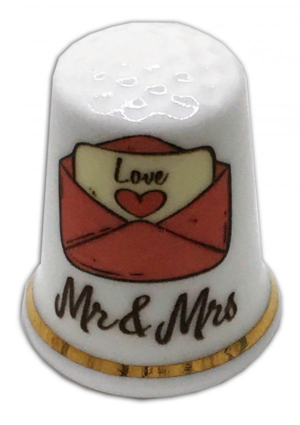 personalised china wedding thimble